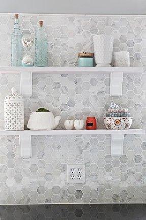 Honeycomb Backsplash Kitchen Hexagons