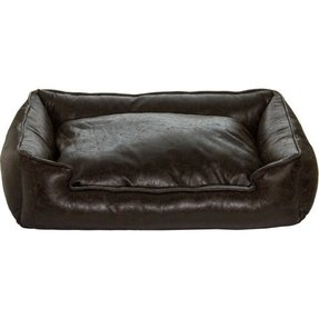 Faux leather dog bed 2