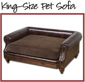 Faux leather dog bed 21