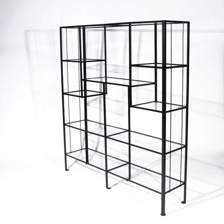 Metal and glass bookcase Grey Wash Frederick Weinberg Etageres Foter Metal And Glass Etagere Ideas On Foter