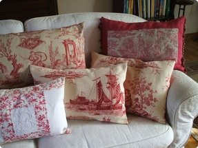 French toile pillows