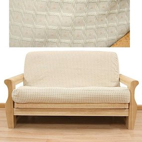 Full Size Champagne Basket Pattern Futon Cover