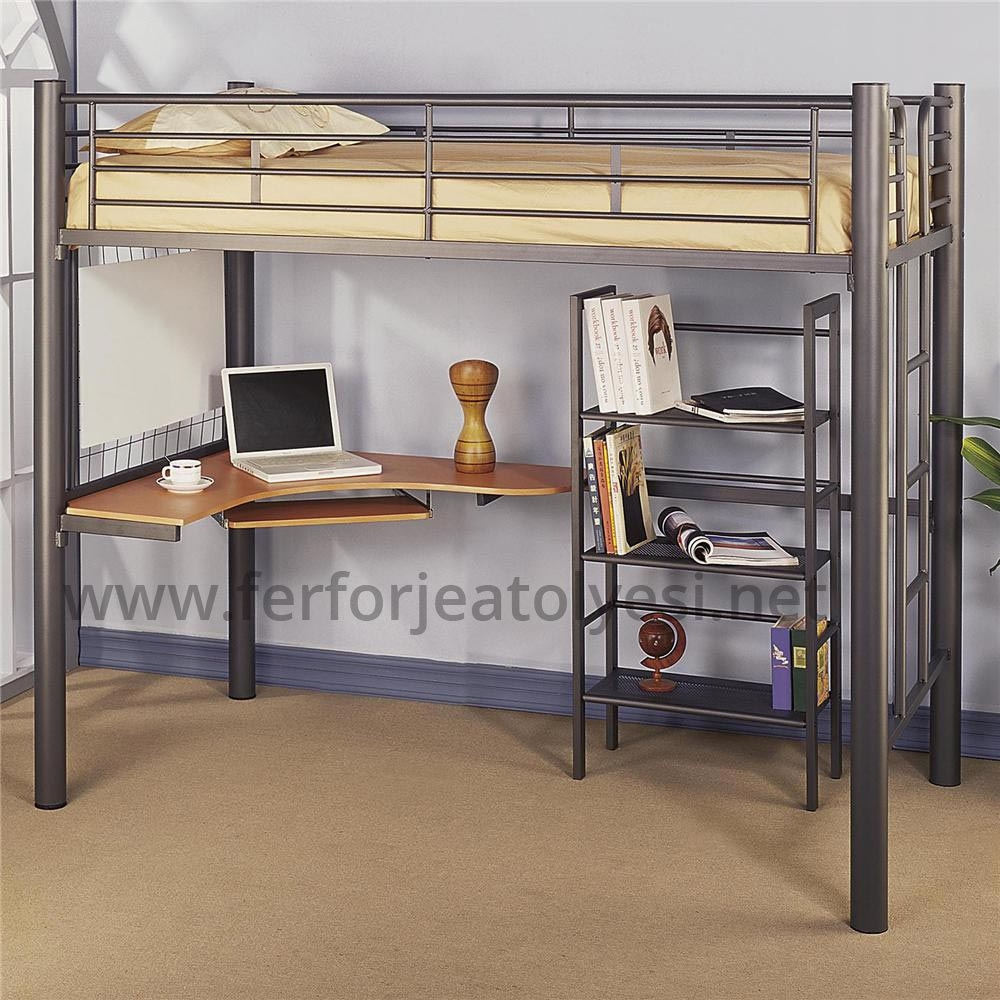 Bon Metal Bunk Bed With Desk   Ideas On Foter