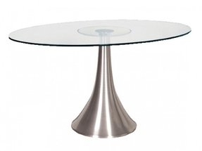 Oval Glass Kitchen Table Glass oval dining table foter glass oval dining table workwithnaturefo
