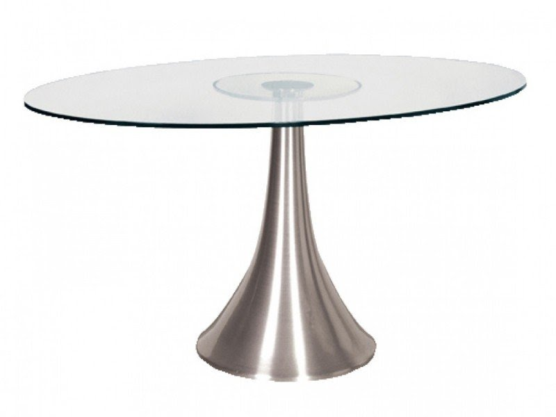 Exceptional Glass Oval Dining Table