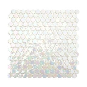 Glass penny round tile 4