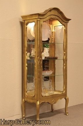 Gold china cabinet