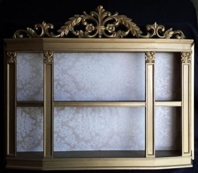 Gold curio cabinets 7