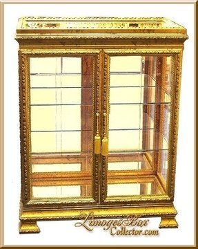 Gold curio cabinets 9