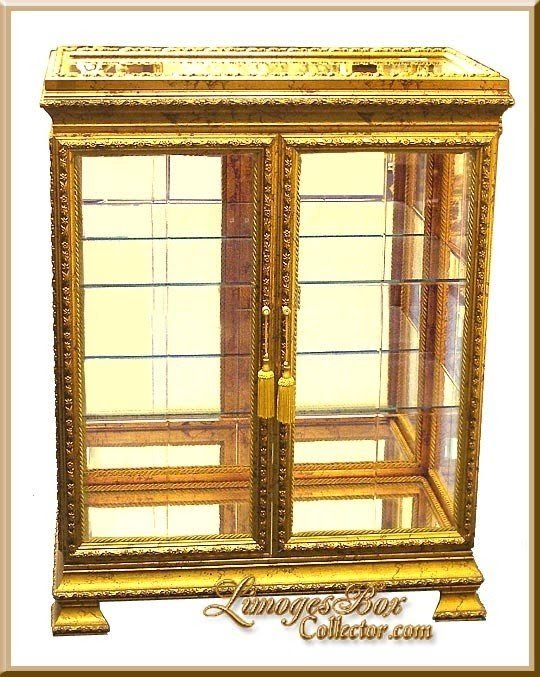 Charmant Gold Curio Cabinets 9
