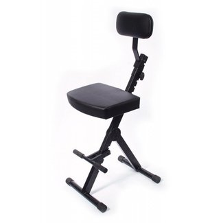 Guitar chair with back
