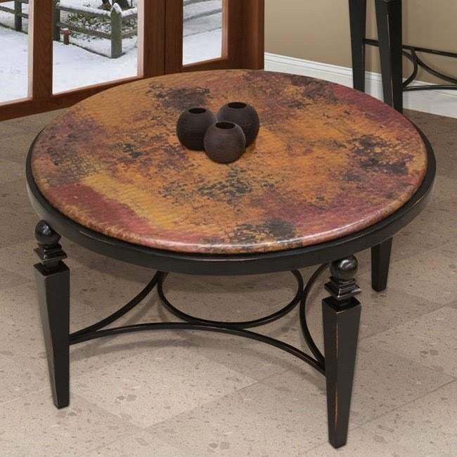 Hammered Copper Coffee Table 2