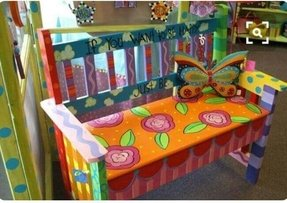 Hand painted bench 6