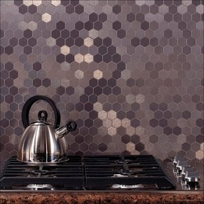 Hexagon tile backsplash 2