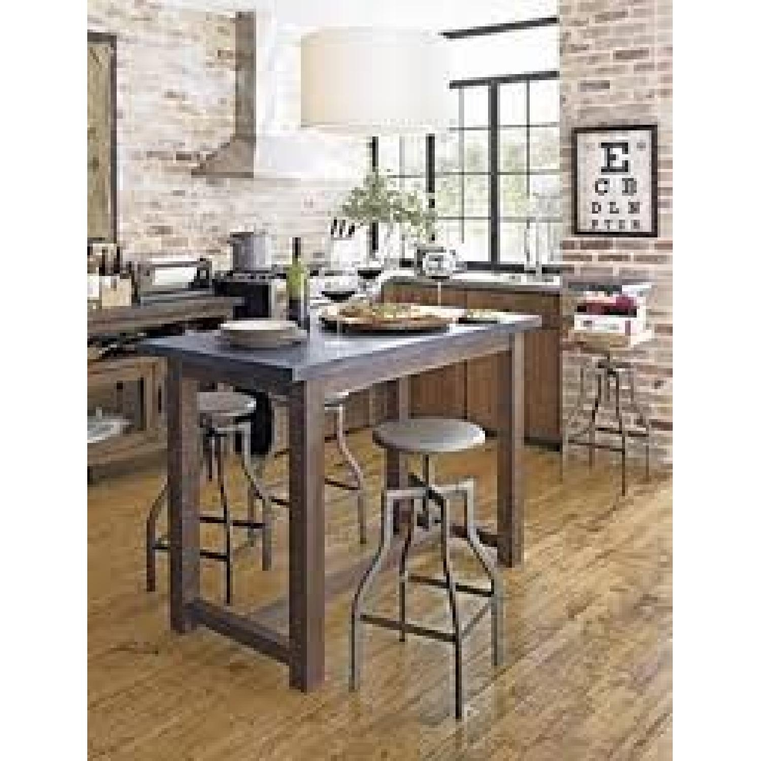 High Kitchen Table With Stools 5