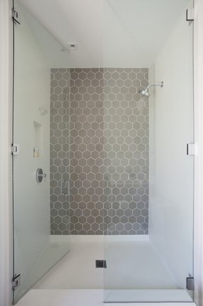Honeycomb Tile Bathroom