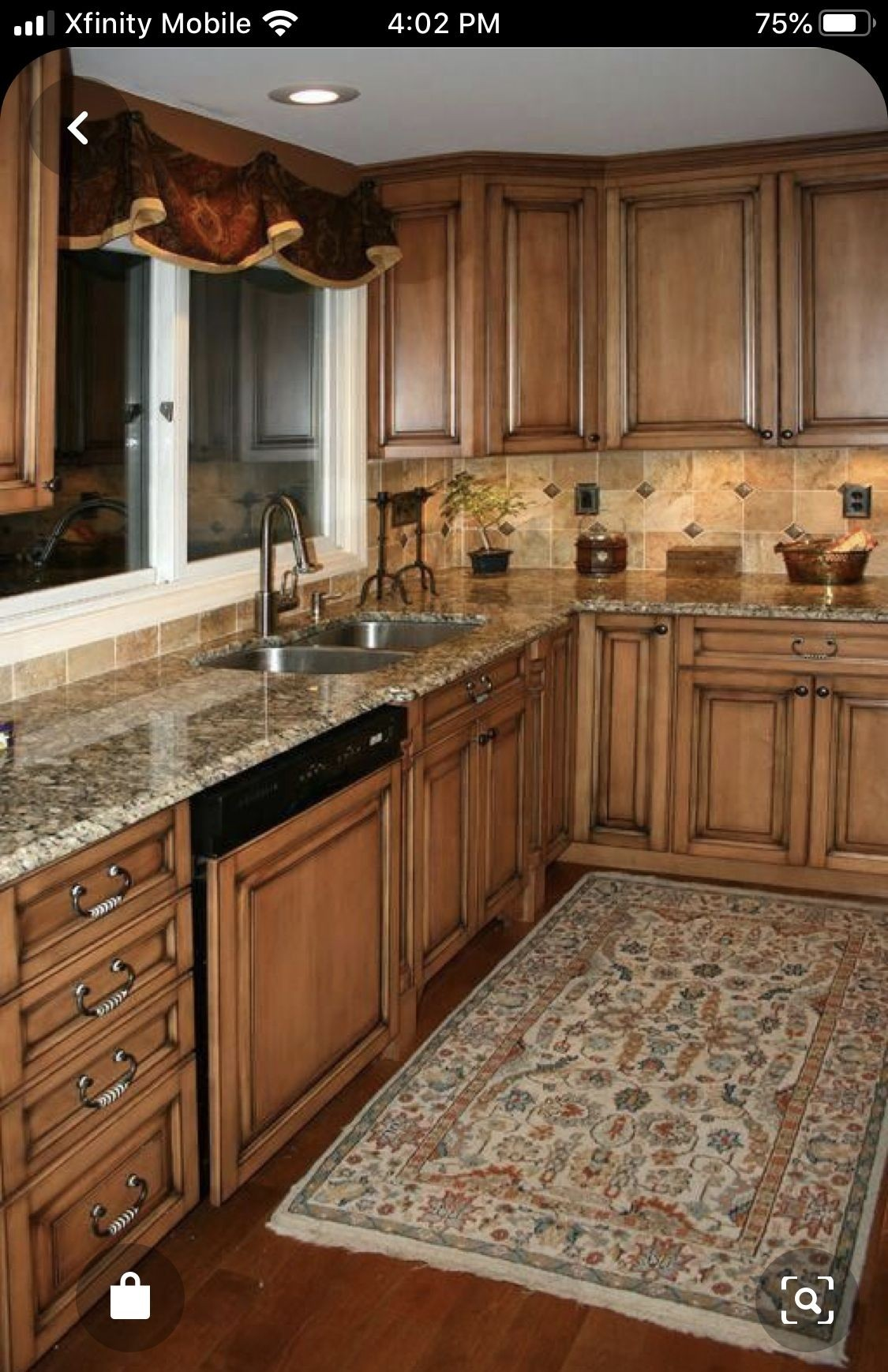 Bon Kitchens17l Maple Kitchen Cabinets With Burnt Sugar Glaze Jpg By