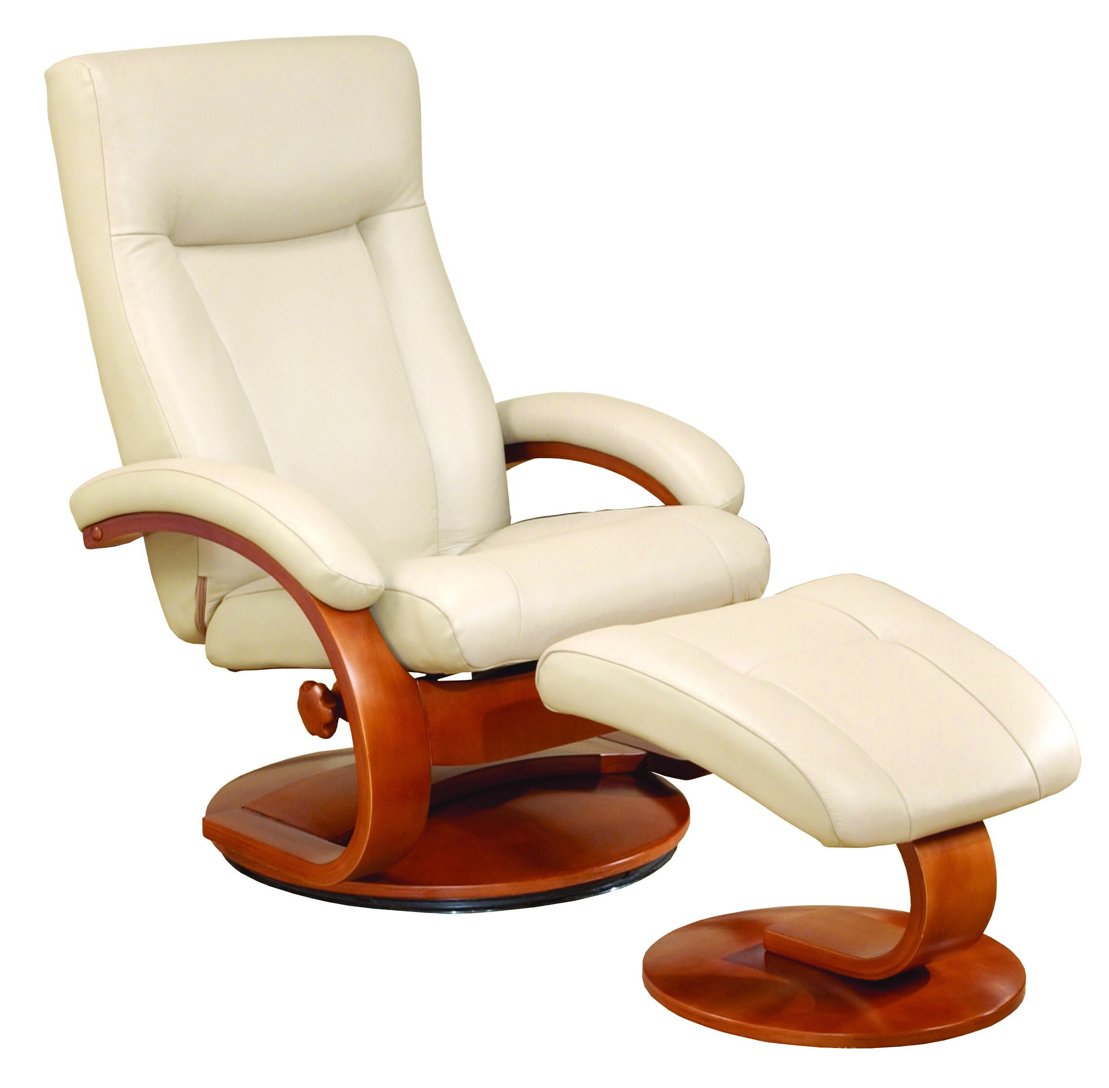 Mac motion oslo 54 series leather recliner and ottoman set