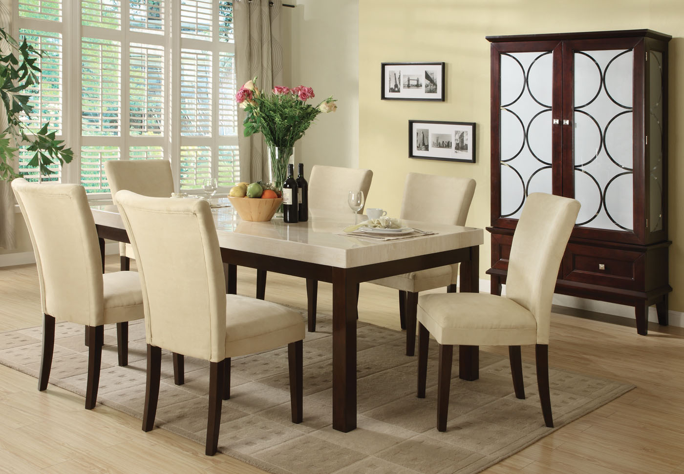 Superieur Marble Top Dining Table Set 1