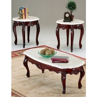Marble top end tables antique