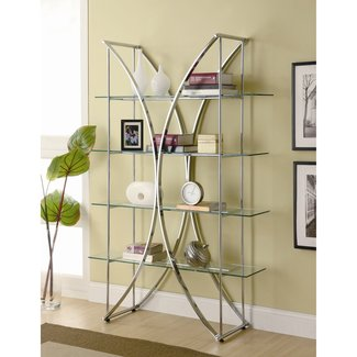 Metal and glass etagere 2