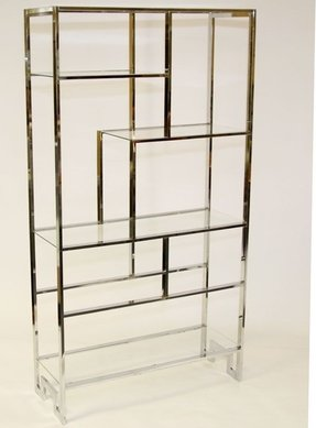 New Metal And Glass Etagere - Foter IJ49