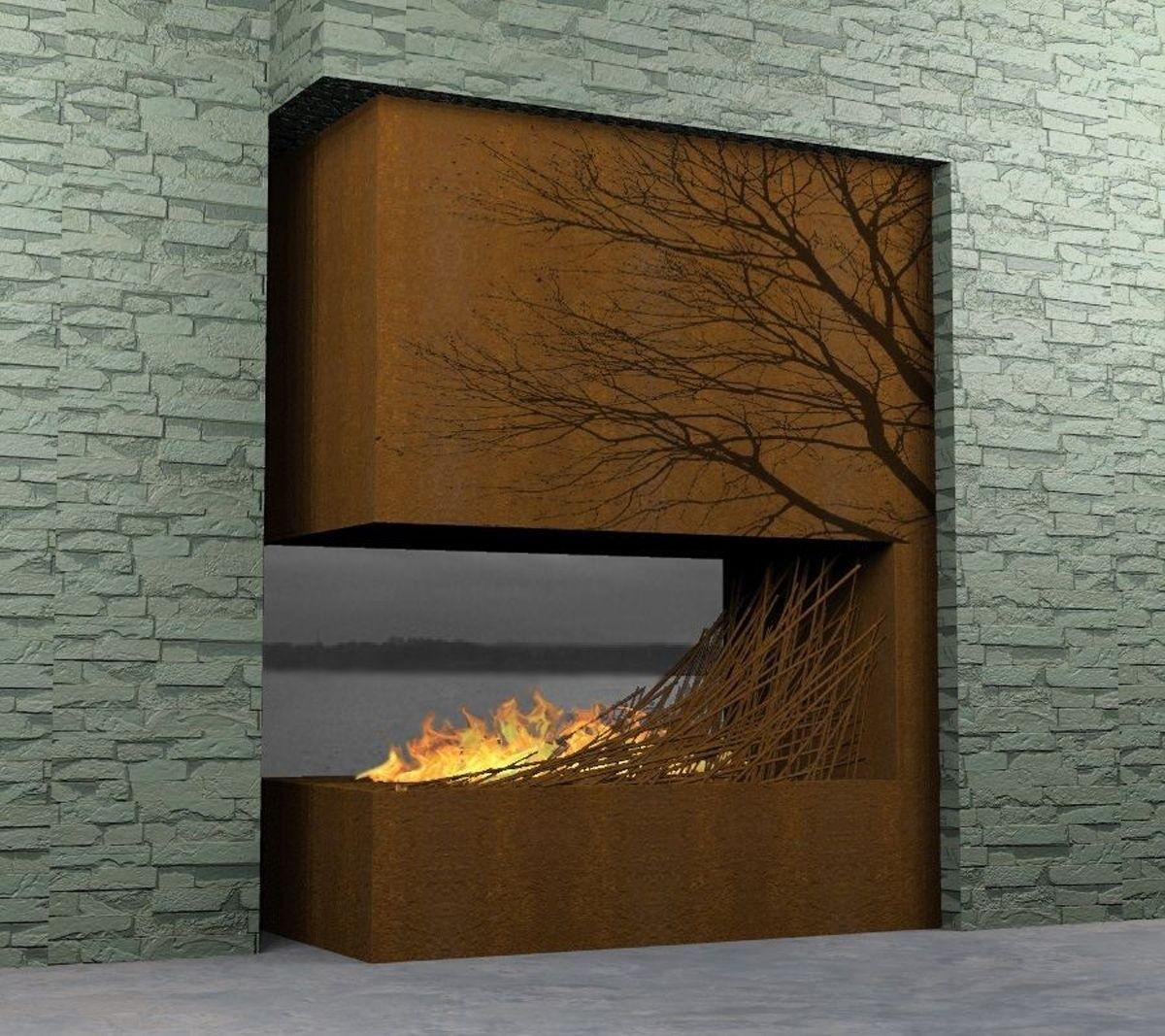 Modern Outdoor Fireplace Designs