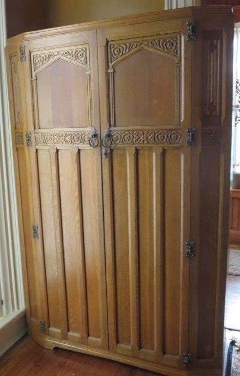 Oak Armoire Wardrobe 1