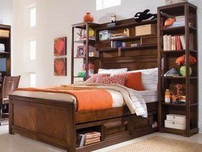 Bookshelf Headboard King Ideas On Foter