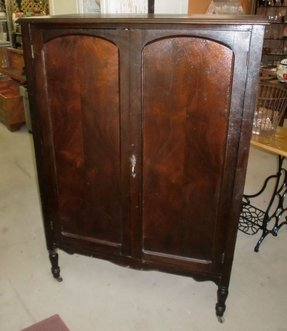 Oak wardrobe armoire 13
