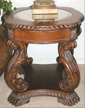 Old world table set coffee table sofa table 2 end