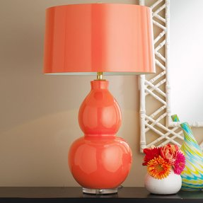 Orange lamp base 1