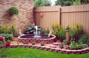 Outdoor corner fountains 1