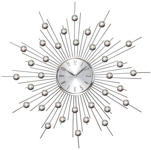 Oversized round contemporary metal clock modern glazed large wall hanging