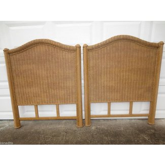Rattan headboards twin beds