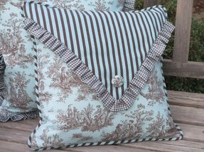 Red toile pillows