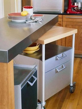 Rolling kitchen cart with drawers 1