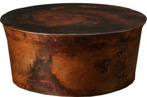 Round Copper Coffee Table 6