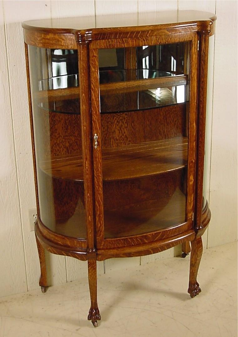 Genial Small Oak Curio Cabinet
