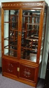 Attrayant Solid Rosewood Curio Display Cabinet Long Life Design Chinese Style