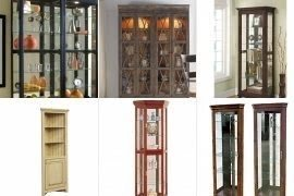 Perfect Solid Wood Curio Cabinets