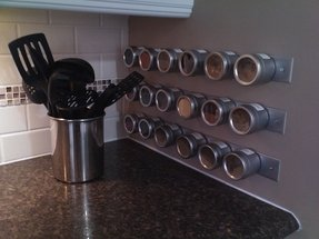 Spice rack wall mount