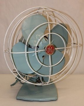 Tall oscillating fan