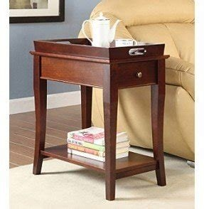 Tray top end table 19