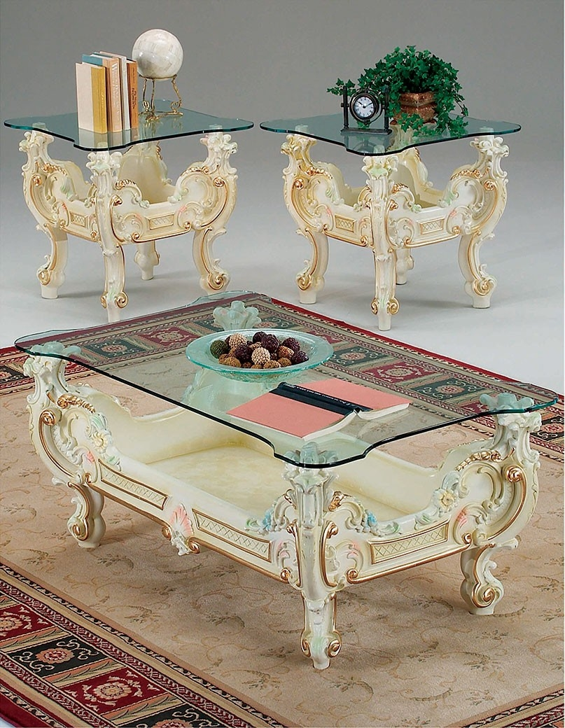 Victorian Marble Top Coffee Table 2