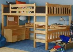 wood bunk bed with desk. Wood Bunk Bed With Desk Underneath 4 K