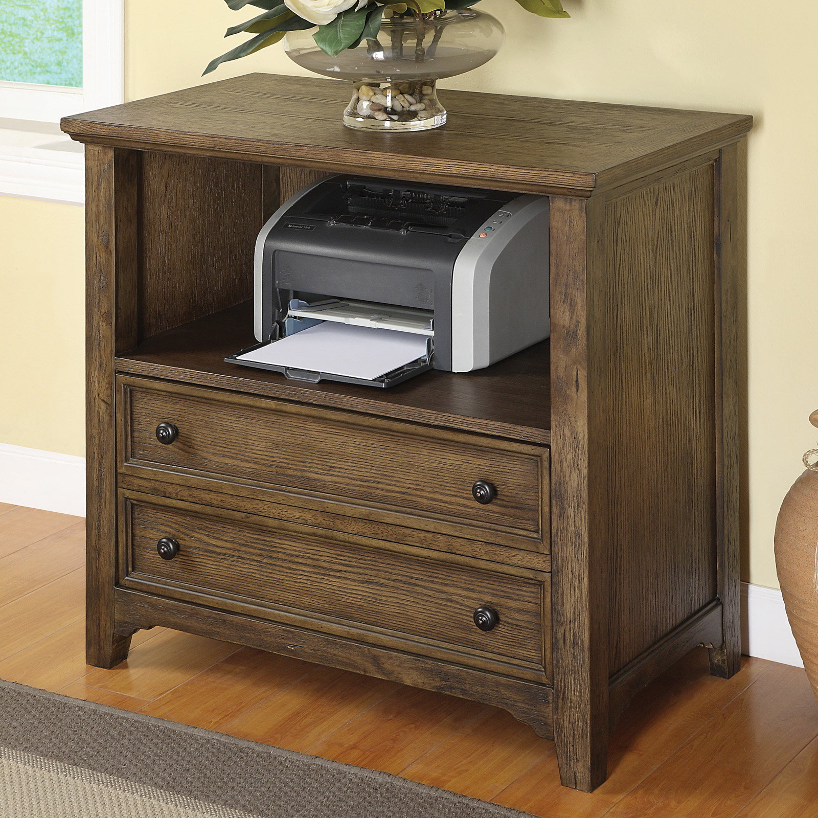 Superieur Wynwood Furniture Newberry Printer Cabinet In Antique Oak