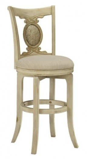 Antique White Swivel Bar Stool