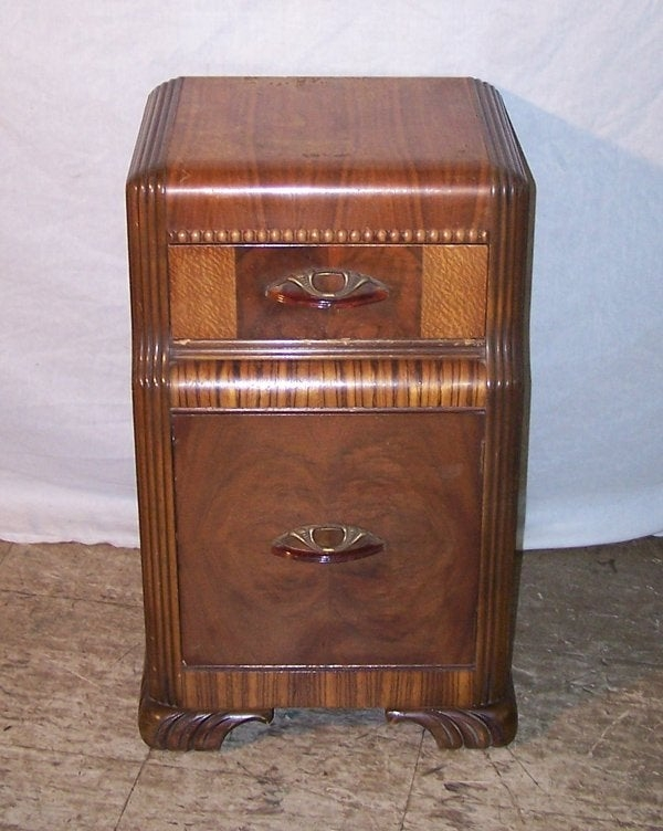 Art Deco Nightstand Painted