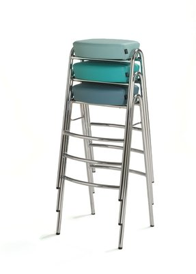 Bar stool contemporary stackable stack by john bertil haggstrom